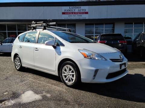 2012 Toyota Prius v for sale at Landes Family Auto Sales in Attleboro MA