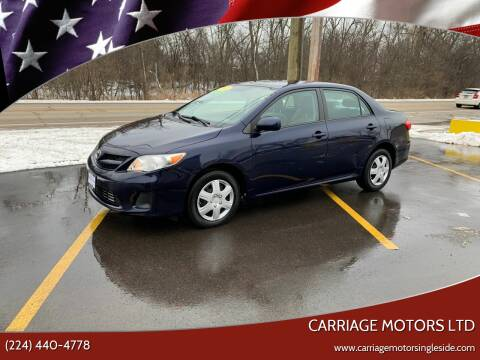 2011 Toyota Corolla for sale at Carriage Motors LTD in Ingleside IL