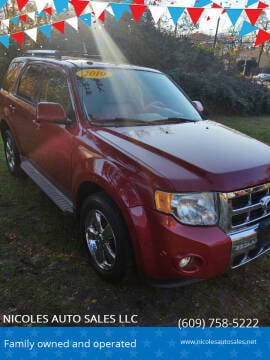 2010 Ford Escape for sale at NICOLES AUTO SALES LLC in Cream Ridge NJ
