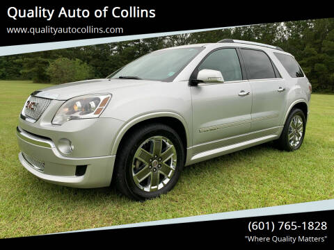 2012 GMC Acadia for sale at Quality Auto of Collins in Collins MS