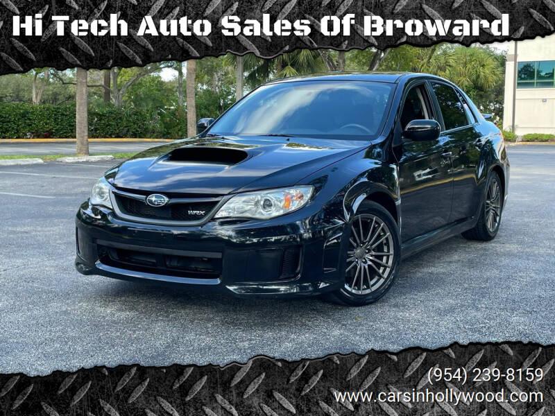 2012 Subaru Impreza for sale at Hi Tech Auto Sales Of Broward in Hollywood FL