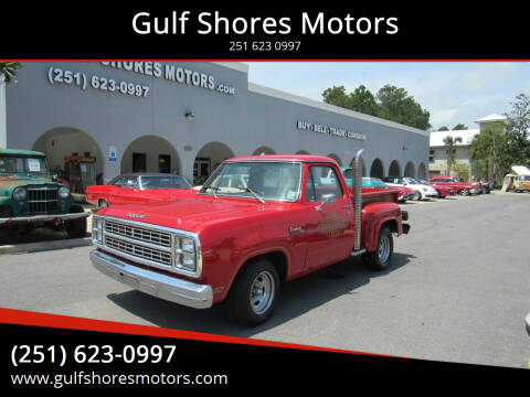 1979 Dodge D100 Pickup for sale at Gulf Shores Motors in Gulf Shores AL