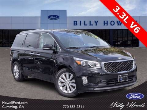 2016 Kia Sedona for sale at BILLY HOWELL FORD LINCOLN in Cumming GA