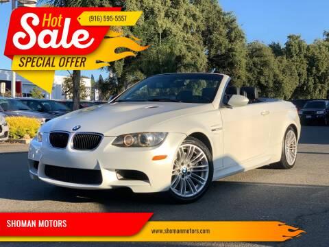 2011 BMW M3 for sale at SHOMAN MOTORS in Davis CA