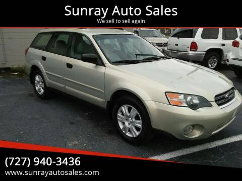 2005 Subaru Outback for sale at Sunray Auto Sales Inc. in Holiday FL