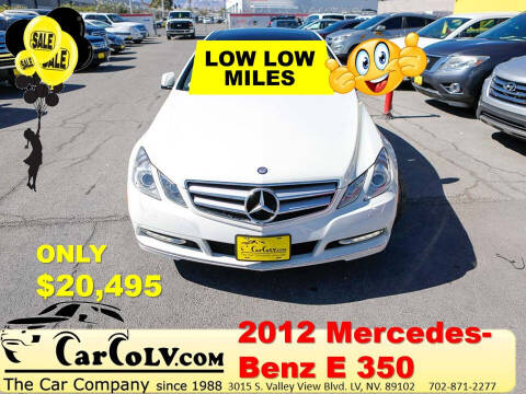 2012 Mercedes-Benz E-Class for sale at The Car Company in Las Vegas NV