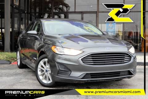 2019 Ford Fusion Hybrid for sale at Premium Cars of Miami in Miami FL