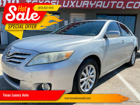 2011 Toyota Camry for sale at Texas Luxury Auto in Cedar Hill TX