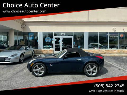 2008 Pontiac Solstice for sale at Choice Auto Center in Shrewsbury MA