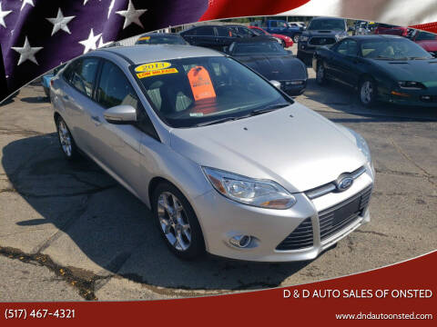 2013 Ford Focus for sale at D & D Auto Sales Of Onsted in Onsted MI