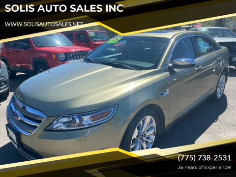 2012 Ford Taurus for sale at SOLIS AUTO SALES INC in Elko NV