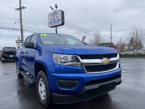 2018 Chevrolet Colorado for sale at S&S Best Auto Sales LLC in Auburn WA