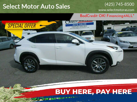 2016 Lexus NX 200t for sale at Select Motor Auto Sales in Lynnwood WA