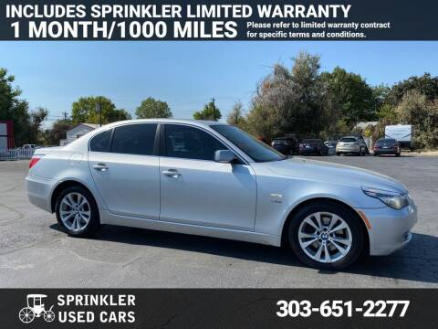 2009 BMW 5 Series for sale at Sprinkler Used Cars in Longmont CO