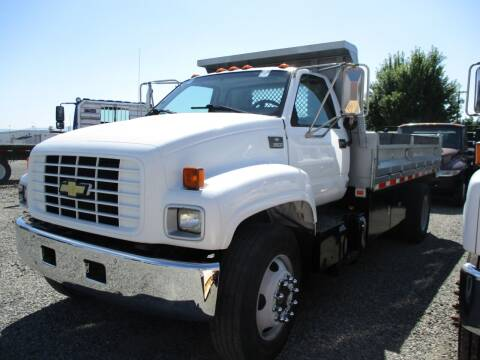 2001 Chevrolet 6500 14ft Dump Bed   for sale at BJ'S COMMERCIAL TRUCKS in Spokane Valley WA