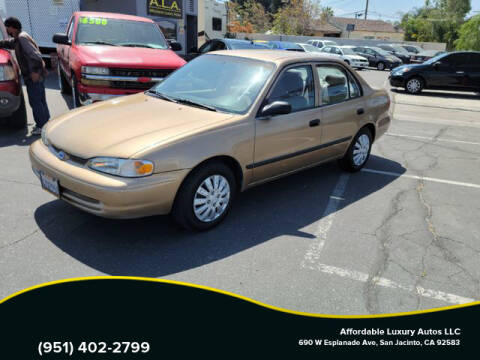 2002 Chevrolet Prizm for sale at Affordable Luxury Autos LLC in San Jacinto CA