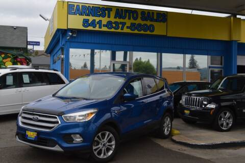 2017 Ford Escape for sale at Earnest Auto Sales in Roseburg OR