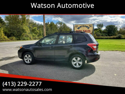 2016 Subaru Forester for sale at Watson Automotive in Sheffield MA