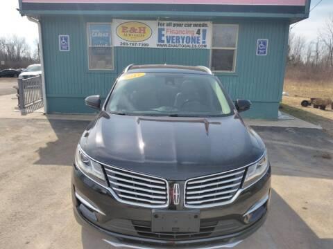 2017 Lincoln MKC for sale at E & H Auto Sales in South Haven MI