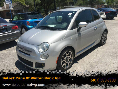 2013 FIAT 500 for sale at Select Cars Of Winter Park Inc in Orlando FL