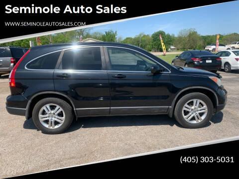 2010 Honda CR-V for sale at Seminole Auto Sales in Seminole OK