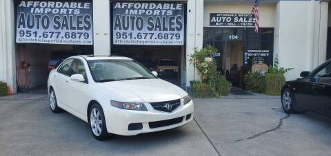 2004 Acura TSX for sale at Affordable Imports Auto Sales in Murrieta CA