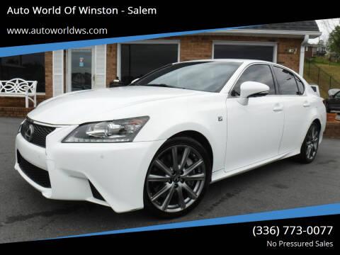 2015 Lexus GS 350 for sale at Auto World Of Winston - Salem in Winston Salem NC
