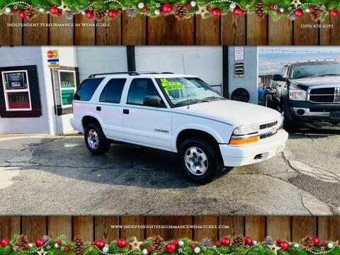 2004 Chevrolet Blazer for sale at Independent Performance Sales & Service in Wenatchee WA