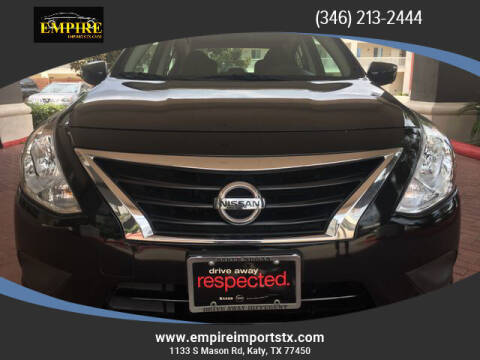 2018 Nissan Versa for sale at EMPIREIMPORTSTX.COM in Katy TX