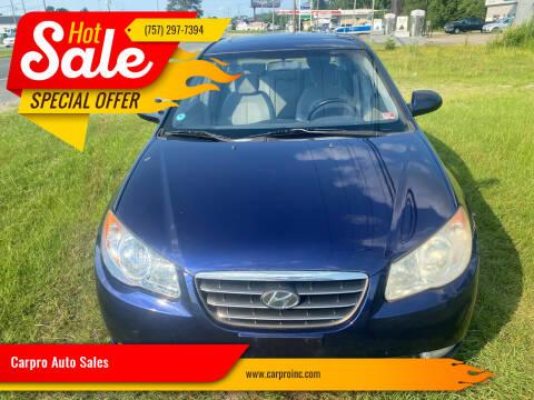 2007 Hyundai Elantra for sale at Carpro Auto Sales in Chesapeake VA