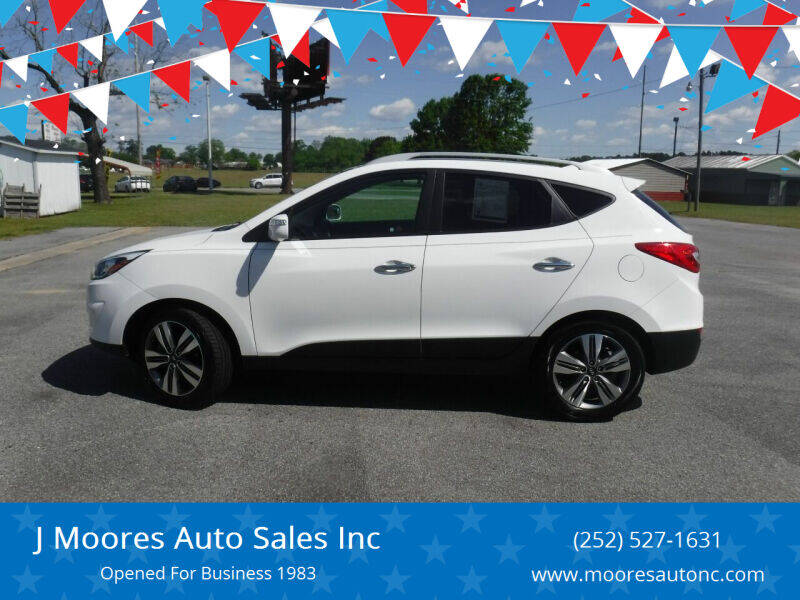 2014 Hyundai Tucson for sale at J Moores Auto Sales Inc in Kinston NC