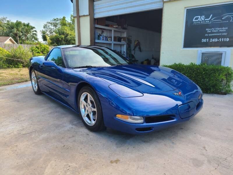 2002 Chevrolet Corvette for sale at O & J Auto Sales in Royal Palm Beach FL