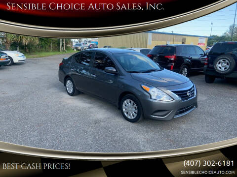 2017 Nissan Versa for sale at Sensible Choice Auto Sales, Inc. in Longwood FL
