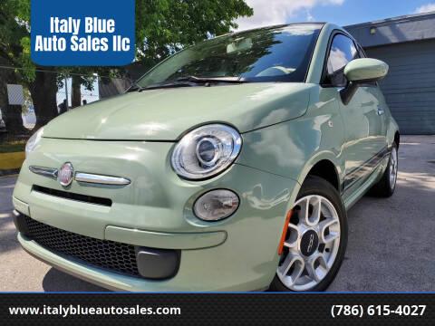 2012 FIAT 500c for sale at Italy Blue Auto Sales llc in Miami FL