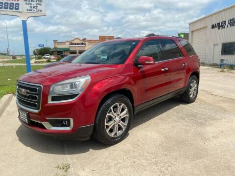 2013 GMC Acadia for sale at MARLER USED CARS in Gainesville TX