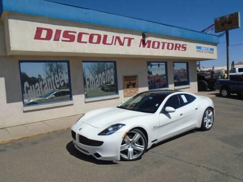 2012 Fisker Karma for sale at Discount Motors in Pueblo CO