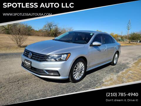 2016 Volkswagen Passat for sale at SPOTLESS AUTO LLC in San Antonio TX