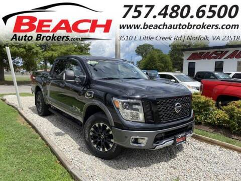 2017 Nissan Titan for sale at Beach Auto Brokers in Norfolk VA