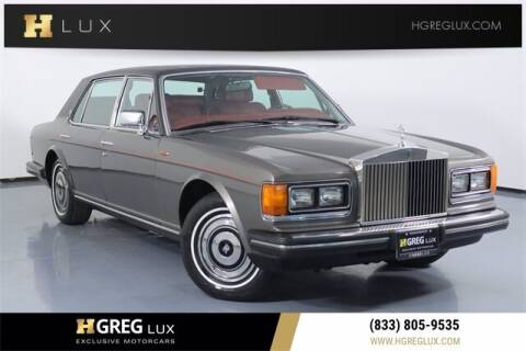 1986 Rolls-Royce Silver Spur for sale at HGREG LUX EXCLUSIVE MOTORCARS in Pompano Beach FL