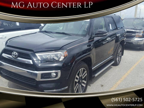 2014 Toyota 4Runner for sale at MG Auto Center LP in Lake Park FL