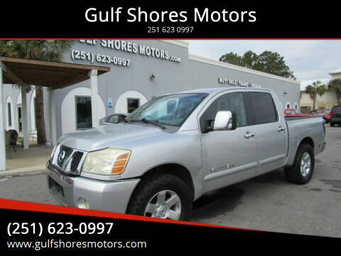 2005 Nissan Titan for sale at Gulf Shores Motors in Gulf Shores AL