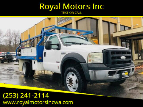 2007 Ford F-450 Super Duty for sale at Royal Motors Inc in Kent WA