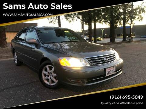 2003 Toyota Avalon for sale at Sams Auto Sales in North Highlands CA