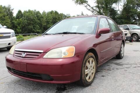 2003 Honda Civic for sale at UpCountry Motors in Taylors SC