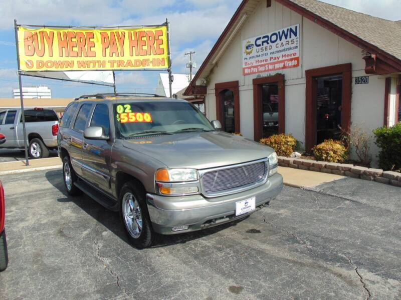 2002 GMC Yukon for sale at Crown Used Cars in Oklahoma City OK