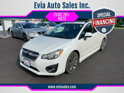 2014 Subaru Impreza for sale at Evia Auto Sales Inc. in Glens Falls NY