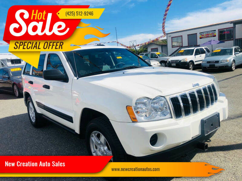 2006 Jeep Grand Cherokee for sale at New Creation Auto Sales in Everett WA
