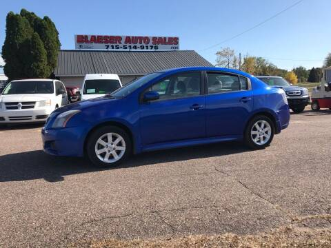 2012 Nissan Sentra for sale at BLAESER AUTO LLC in Chippewa Falls WI