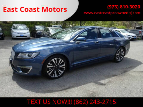 2018 Lincoln MKZ for sale at East Coast Motors in Lake Hopatcong NJ