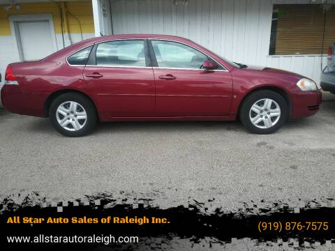 2006 Chevrolet Impala for sale at All Star Auto Sales of Raleigh Inc. in Raleigh NC